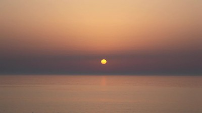 Sunset over Mediterranean