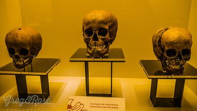 Skulls of sacrificed children