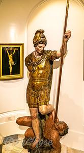 Saint Micheal slaying the demon