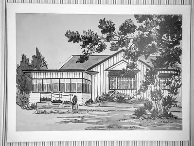 Line Sketch of Hirst Cottage 1862