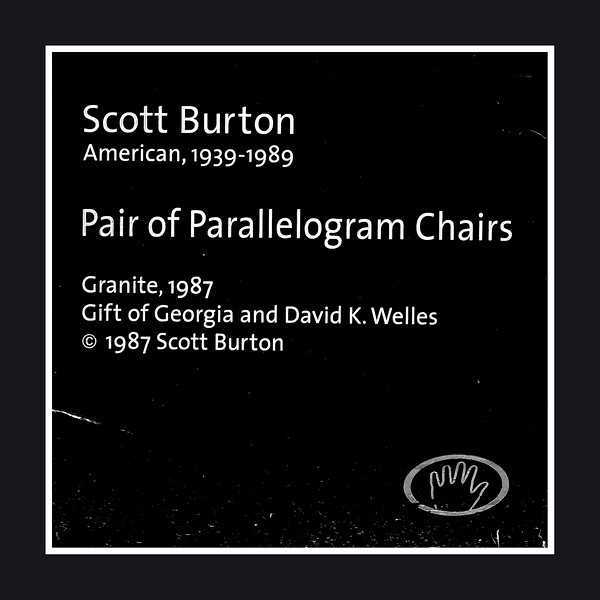 Pair of Parallelogram Chairs by Scot Burton