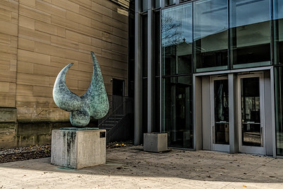 Binder - Requiem Requiem 2017-01 Erwin Binder (American, 1934-93) Bronze; 1988  Read more here:  https://arts.umich.edu/museums-cultural-attractions/requiem/  University of Michigan, Ann Arbor Central Campus; In east court between Alumni Memorial Hall and the Frankel Wing of the Musuem of Art Taken November 11, 2017