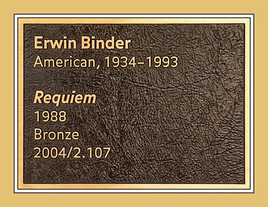 Identification Plaque:  Requiem by Erwin Binder