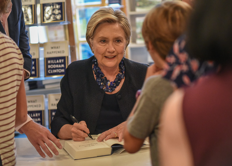 Hilary Clinton Signs books for fans at Watchung Booksellers September 26, 2017. Image: Adam Anik/Montclair Dispatch