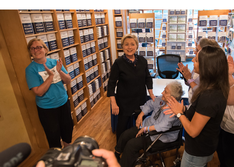 Hilary Clinton visits Watchung Booksellers September 26, 2017. Image