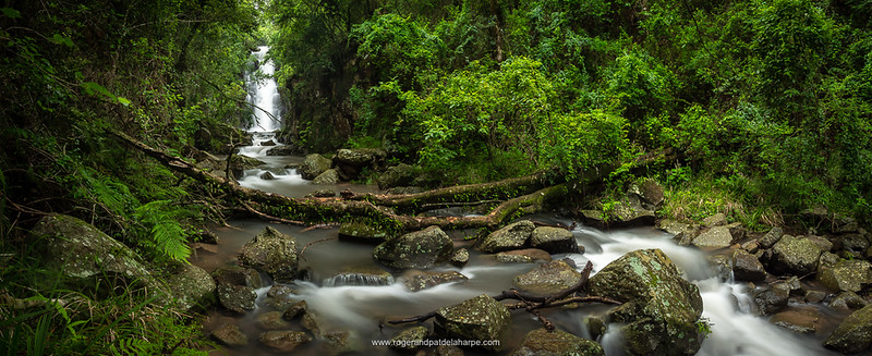 Drakensberg Mountains Stream Panorama Print