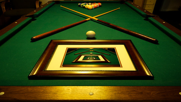 Pool table photo within photo