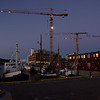 Crane collection I<br /> Bodø harbour, multiple building sites