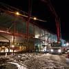 Construcion in dark wintertime I<br /> New hospital, Stokmarknes 2011