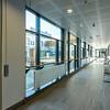 Hovedkorridor rundt atrium nord - adkomst til poliklinikk.