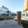 Atrium nord, treningshage. Skulpturer ved Erlend Leridal