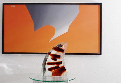 Klaasikunstnik Ivo Lille klaasskulptuur/ Made by glass artist Ivo Lill