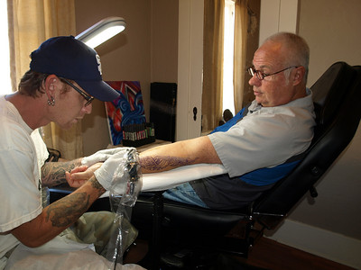 Here we go! The tattoo artist is Tony Lavorin, Jesse's older brother.