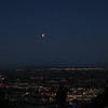 Waning Blood Moon from Mt Helix