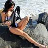 beautiful woman sunset beach swimsuit model 45surf 803.34.435