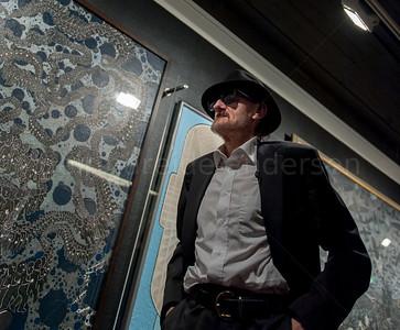 Pushwagner - Terje Brofos i Stenersenmuseet Utstillingsåpningen