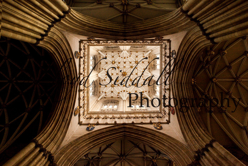 York Cathedral main ceiling.