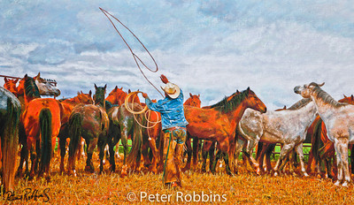 Mark Catchin Horses, Pitchfork Ranch