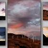 005_Turbine Sunset set of 5 canvas