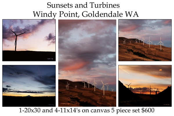 014_Sunsets and Turbines set of 5