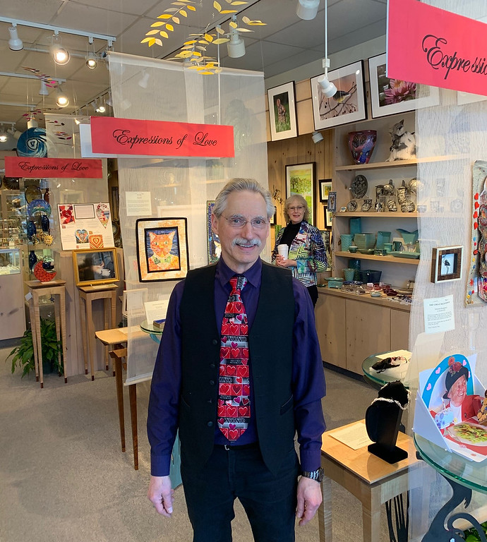 . Handworks Gallery of American Crafts owner Glenn Johnson of Woburn
