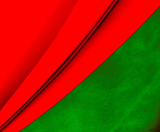 STUDY IN RED AND GREEN