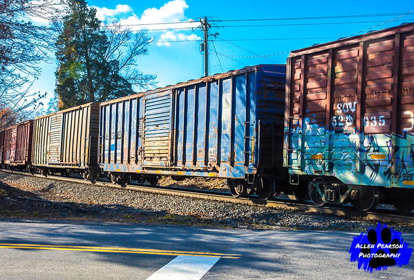 Blue Freight Through Belvoir, VA