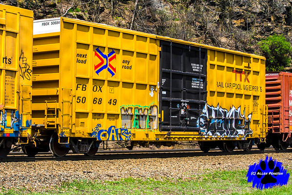 A Yellow TTX Freight Car! Art of the Freight Cart, Rail Art Series!