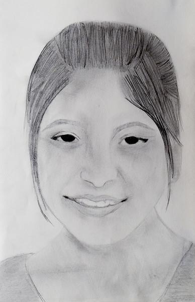 """""""Shaima"""", Pencil, by Eraaj Mahmood"""