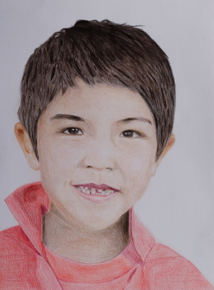 """William"", Pencil Crayon,  by Tia Dowling,"