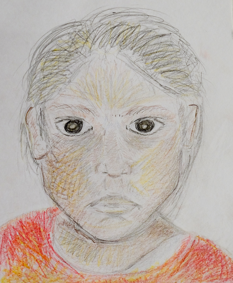 """""""Lizeth"""", Pencil and Pencil Crayon, by Lilly Brice"""
