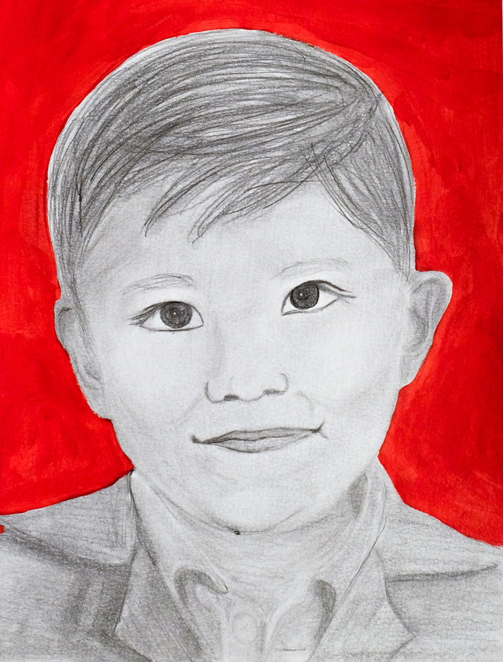 """David"", Pencil and Acrylic, by Emma Boomershine"