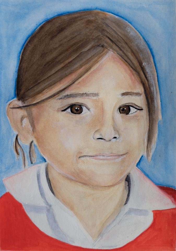 """Sarai"", Watercolor, by Mariam Alsorogi"
