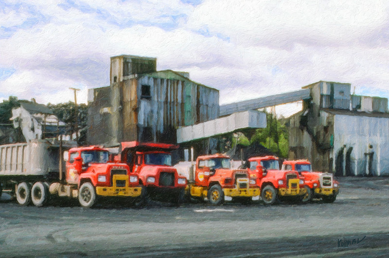 Red Coal Trucks