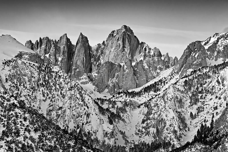 Mount Whitney in Winter: Lone Pine, California