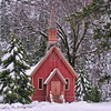 Chapel in the Snow: Yosemite National Park, California
