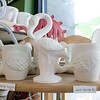 Art on the Rocks has moved from Fitchburg to Leominster. On their shelves for you to paint they have flamingo mugs. SENTINEL & ENTERPRISE/JOHN LOVE
