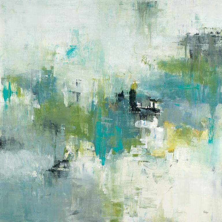 "Refocus & Restart-Ridgers, 48""x48"" acrylic painting on canvas"