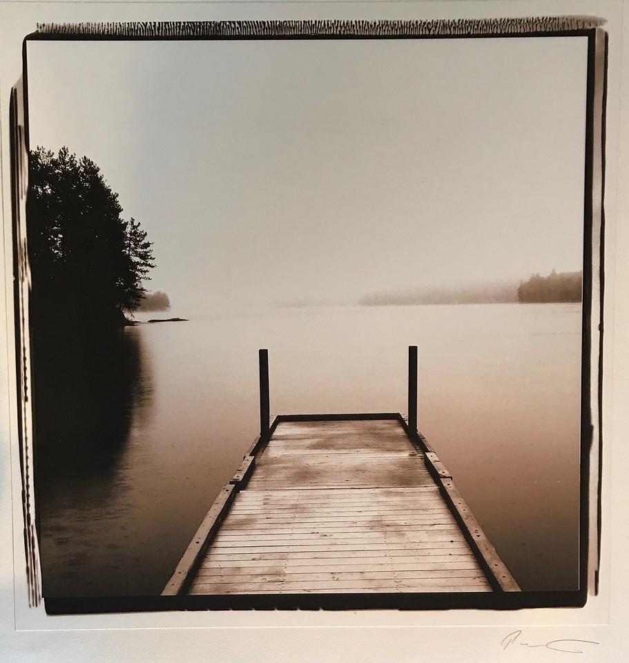"Maine Dock-Pezhman, 21""x20"" photography"