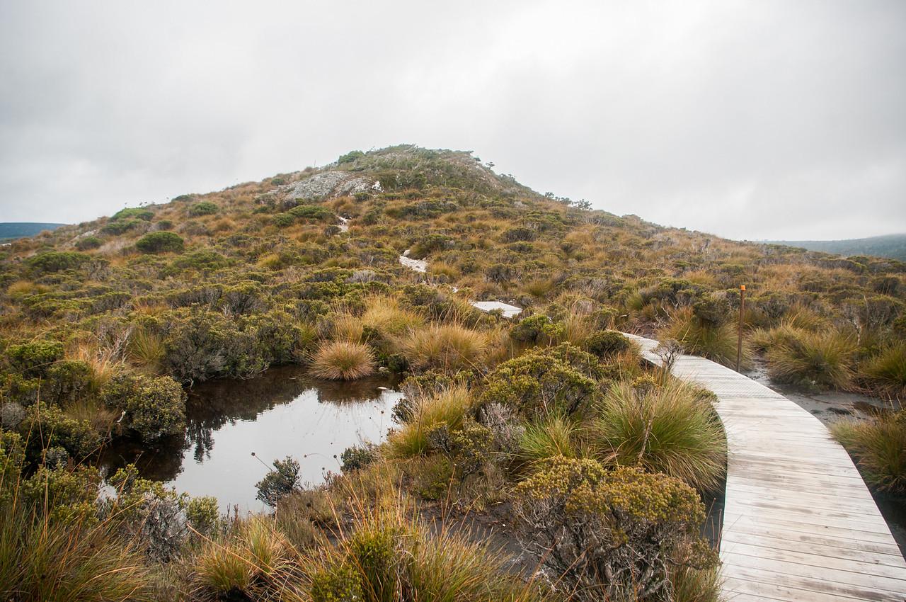 """Při výletě kolem jezera jsem pak přelézal tento """"Wombat Peak""""..."""