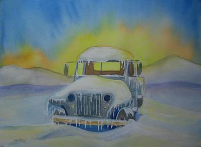 Arctic Sunrise, 10x14 watercolor, jan 12, 2014 CIMG9309