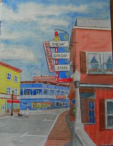 Dew Drop Inn, 9x12 watercolor, completed Feb 3, 2014  CIMG9343 - Copy