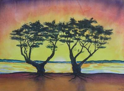 San Diego Bay, watercolor, 11x14, oct 1, 2014