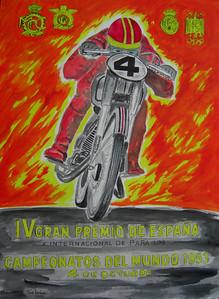 Gran Premeo de Espana 1953, 10x14 watercolor, apr 4, 2014 CIMG0980