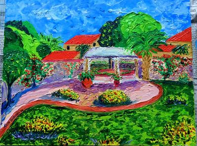 Jenny's Garden, 11x14, oil, oct 20, 2014