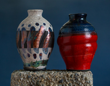 Valentines Raku Pots - mine is the red one