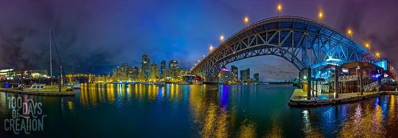 "Day 70 - Bridge ~ Panorama photograph, 44""x15"""