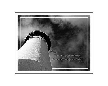 Au Sable Lighthouse Psalm 142 5  16x20