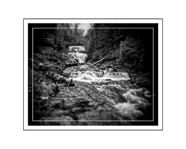 Waterfall Black and white 2 16x20