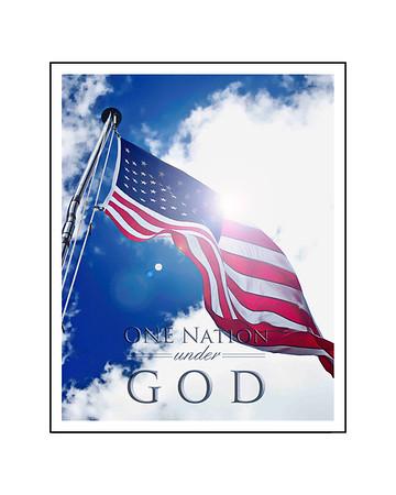 One Nation Under God 16x20